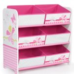Girls Pink Patchwork 6 Bin Storage Unit