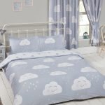 Happy Clouds Double Duvet Cover and Pillowcase Set