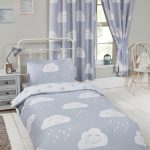 Happy Clouds 4 in 1 Junior Bedding Bundle Set (Duvet, Pillow and
