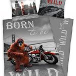 Born To Be Wild Orangutan Single Duvet Cover Set