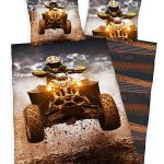 Quad Bike Single Duvet Cover and Pillowcase Set