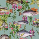 Lagoon Fish Wallpaper Teal Holden 12171