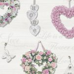 Gracie Floral Hearts Wallpaper Pink and Grey Holden 12020