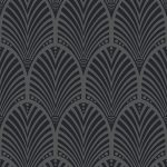 Gatsby Art Deco Wallpaper Charcoal Holden Decor 65250