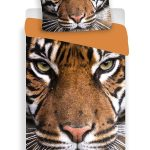 Tiger Single Cotton Duvet Cover and Pillowcase Set