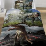 Jurassic Predators Dinosaurs Single Duvet Cover Set