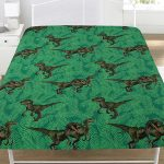 Jurassic Predators Dinosaur Single Fitted Sheet