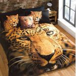 Leopard King Size Duvet Cover and Pillowcase Set