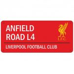Liverpool FC 'Anfield Road' Street Sign – Red