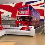 London Bus Wall Mural 232 x 315 cm