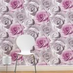 Madison Rose Floral Wallpaper Pink Muriva 119505