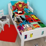 Marvel Comics Strike 4 in 1 Junior Bedding Bundle (Duvet, Pillow,