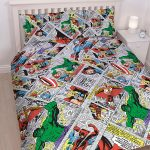 Marvel Comics Retro Double Duvet Cover and Pillowcase Set
