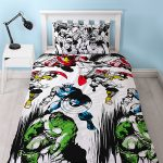 Marvel Comics Crop Single Duvet Cover and Pillowcase Set