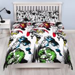 Marvel Comics Crop Double Duvet Cover and Pillowcase Set