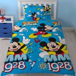 Mickey Mouse Cool Single Duvet Cover and Pillowcase Set