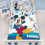 Mickey Mouse Wanderer 4 in 1 Junior Bedding Bundle Set (Duvet, Pillow