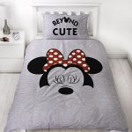 Minnie Mouse Cute Single Duvet Cover and Pillowcase Set