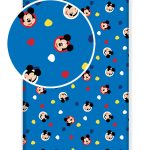 Mickey Mouse Single Fitted Sheet – Blue