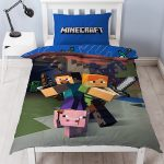 Minecraft Duvet Cover and Pillowcase Set – Single