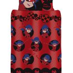 Miraculous Ladybug Spots Single Duvet Cover and Pillowcase Set