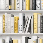 Fashion Library Bookcase Wallpaper Gold Muriva 139503