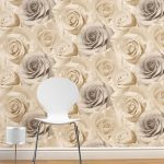 Madison Rose Floral Wallpaper Natural Muriva 119504