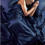 Navy Blue Satin Super King Duvet Cover, Fitted Sheet and 4 Pillowcases