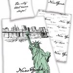 New York Art Single Duvet Cover & Pillowcase Set