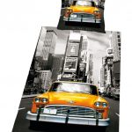 New York City Taxi Cab Duvet Cover & Pillowcase Set
