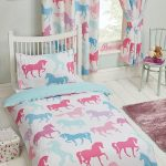 Patchwork Ponies 4 in 1 Junior Bedding Bundle Set (Duvet, Pillow and