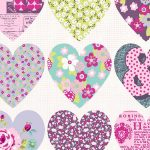 Patchwork Heart Wallpaper Purple Arthouse 668501