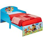 Paw Patrol Toddler Bed with Deluxe Foam Mattress – Blue