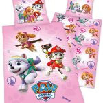 Paw Patrol Pink Single Duvet Cover and Pillowcase Set