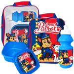 Paw Patrol 3 Piece Lunch Bag Set – Blue
