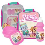 Paw Patrol 3 Piece Lunch Bag Set – Pink