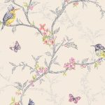 Phoebe Birds Wallpaper Cream Holden 98082