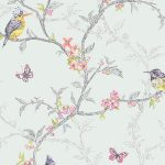 Phoebe Birds Wallpaper Soft Teal Holden 98083