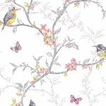 Phoebe Birds Wallpaper White Holden 98080