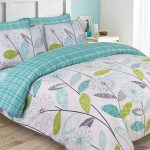 Allium Dandelion Teal King Size Duvet Cover and Pillowcase Set