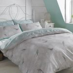 Vintage Birds Mint Double Duvet Cover and Pillowcase Set