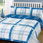 Poole Blue Check Double Duvet Cover and Pillowcase Set