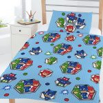 PJ Masks Badges 4 in 1 Junior Bedding Bundle Set (Duvet, Pillow and