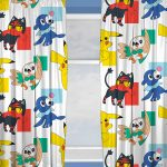 Pokemon Dash Curtains