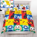 Pokemon Newbies Double Duvet Cover and Pillowcase Set