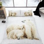 Polar Bear Family 3D Double Duvet Cover and Pillowcase Set