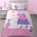 Peppa Pig Happy Single Duvet Cover and Pillowcase Set