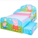 Peppa Pig Toddler Bed with Storage plus Foam Mattress