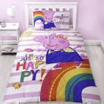 Peppa Pig Hooray Single Duvet Cover and Pillowcase Set