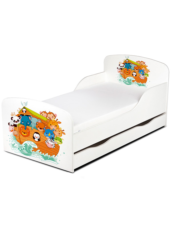 PriceRightHome Noah's Ark Animals Toddler Bed with ...